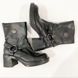 Harley Davidson Women's Black Riding Heeled Boots